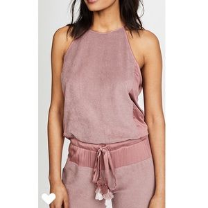 Young Fabulous & Broke YFB Diego Jumpsuit Rose XS